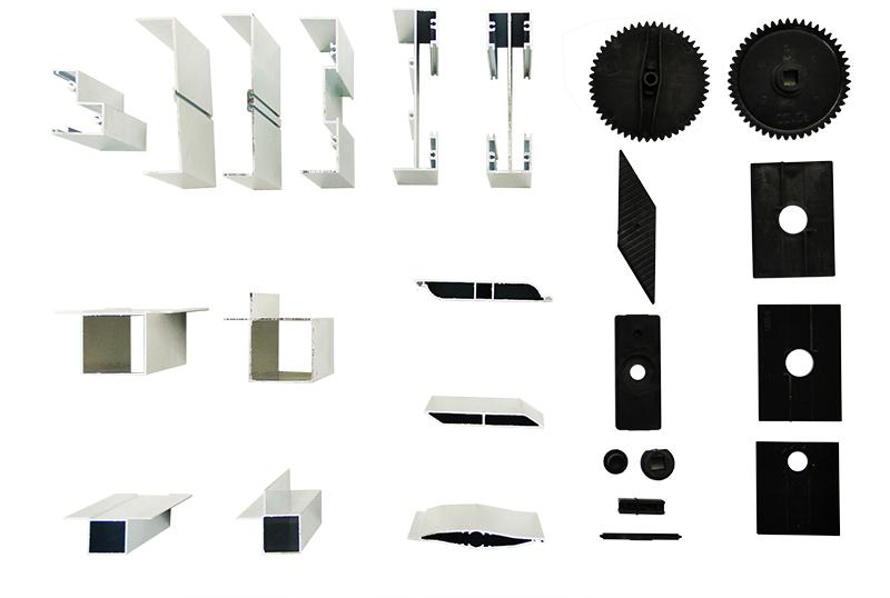 Алюминиевый профиль и пластиковая фурнитура